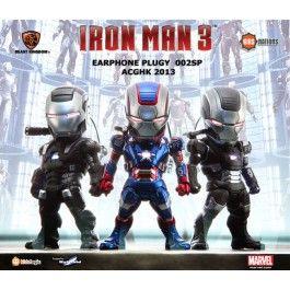 Iron Man 3, Kids Nations EarPhone Plugy Series 002SP, Set of 3 (ACGHK 2013 Exclusive)  #tonystark #ironman #ironman3 #robertdowney #exclusive #limited #marvel #cute #angolz