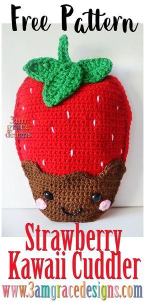 Strawberry Kawaii Cuddler   Pinterest   Ganchillo