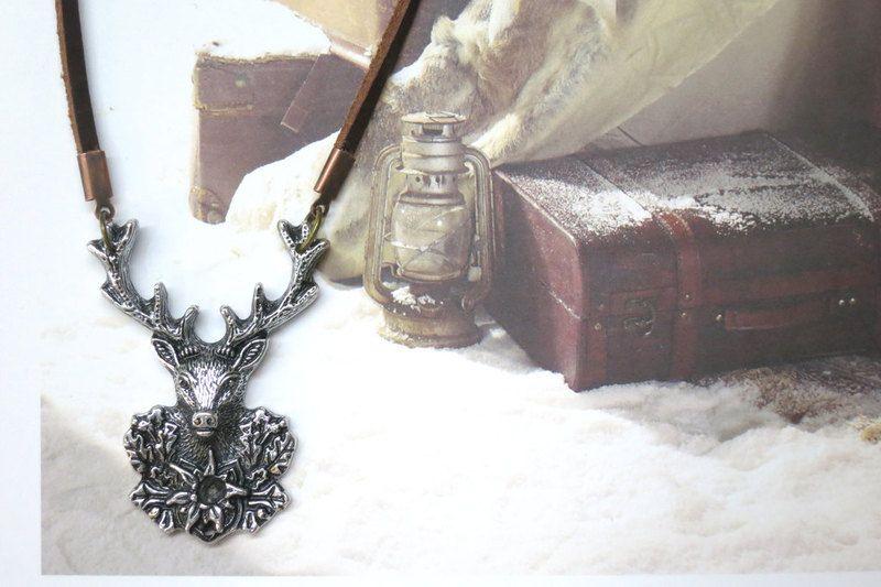 Boho Steampunk Retro Vintage Silver Deer Head G... from Little Heartwarming by DaWanda.com