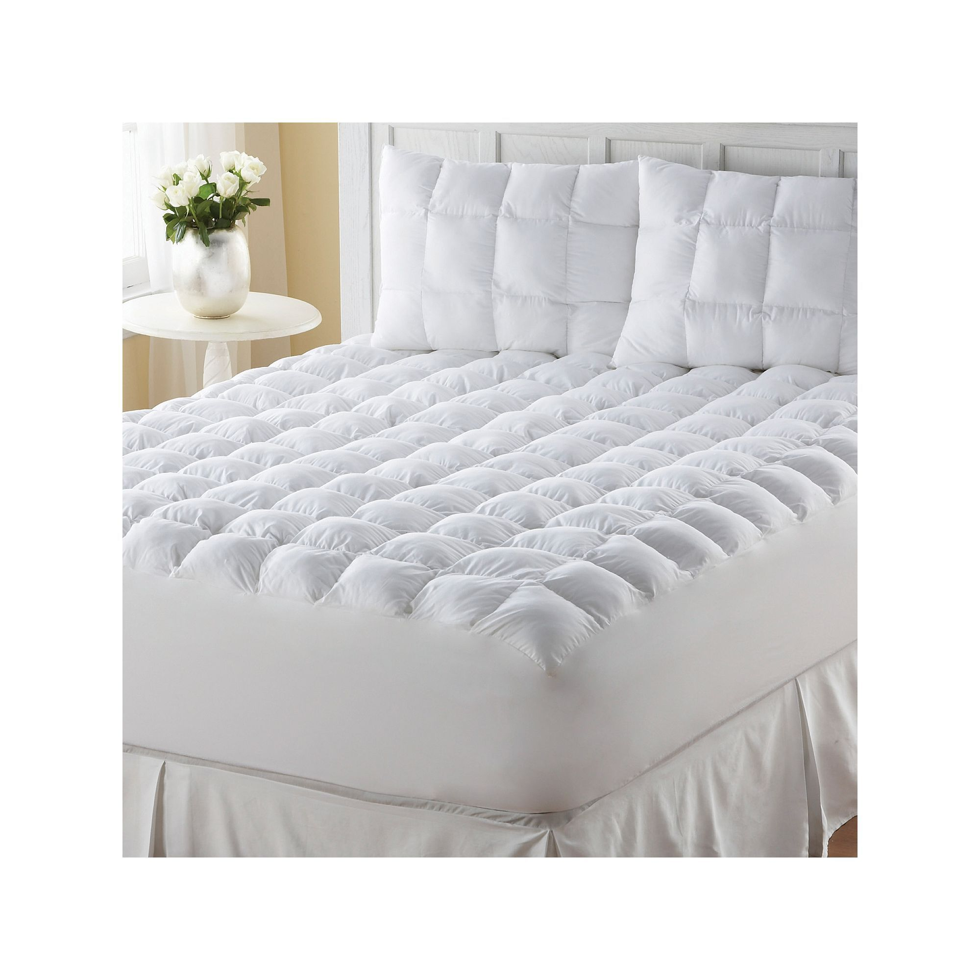 Downalternative deeppocket mattress pad mattress pad mattress