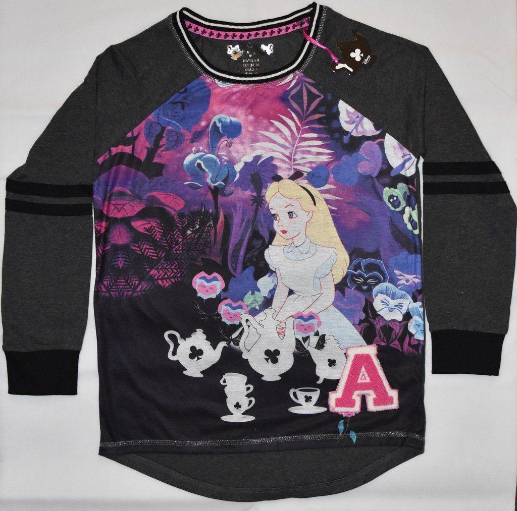 Ladies Primark Disney Alice In The Wonderland Nightwear Long Tshirt