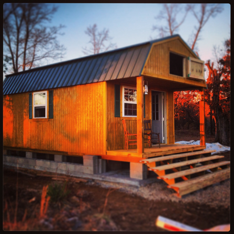Log home builders nova scotia - Pre Built Cabin Set On Concrete Slab