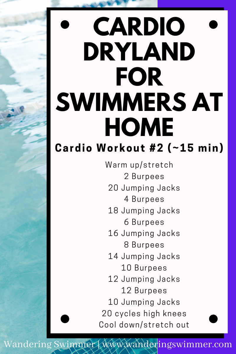 Dryland Cardio For Swimmers Swimmers Workout Dryland Workouts For Swimmers Swimming Workout