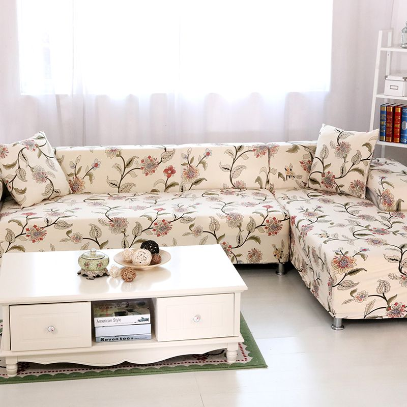 55 83 Universal Stretch Couch Sofa Covers 2pcs Polyester Corner