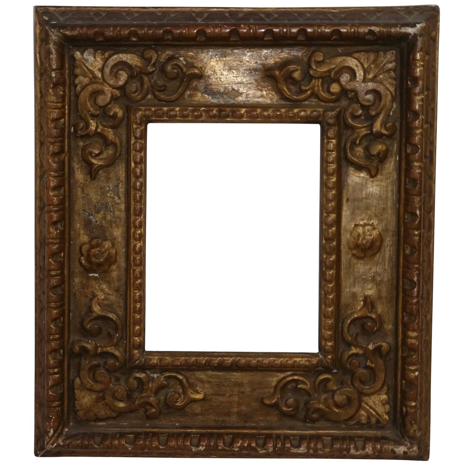 18th Century Spanish Colonial Carved and Gilt Frame   Frames ...