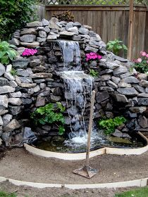 The work continues on our waterfall.   We have added more plants although one tree we were searching for was sold out and is now out of se...