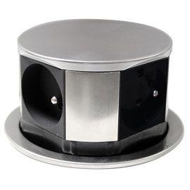 Bloc 4 Prises Otio Escamotables Compact Inox Prise Escamotable Prise Electrique Encastrable Et Prise Encastrable
