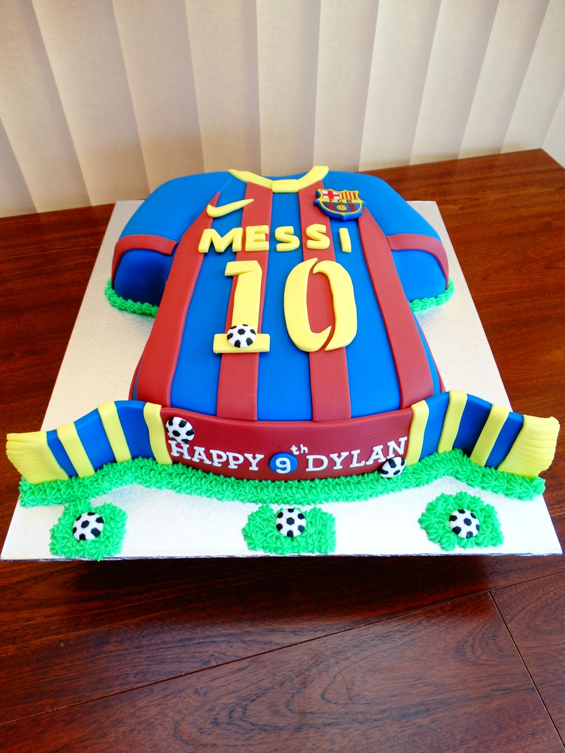 Barcelona football shirt cake xmcx cakes pinterest