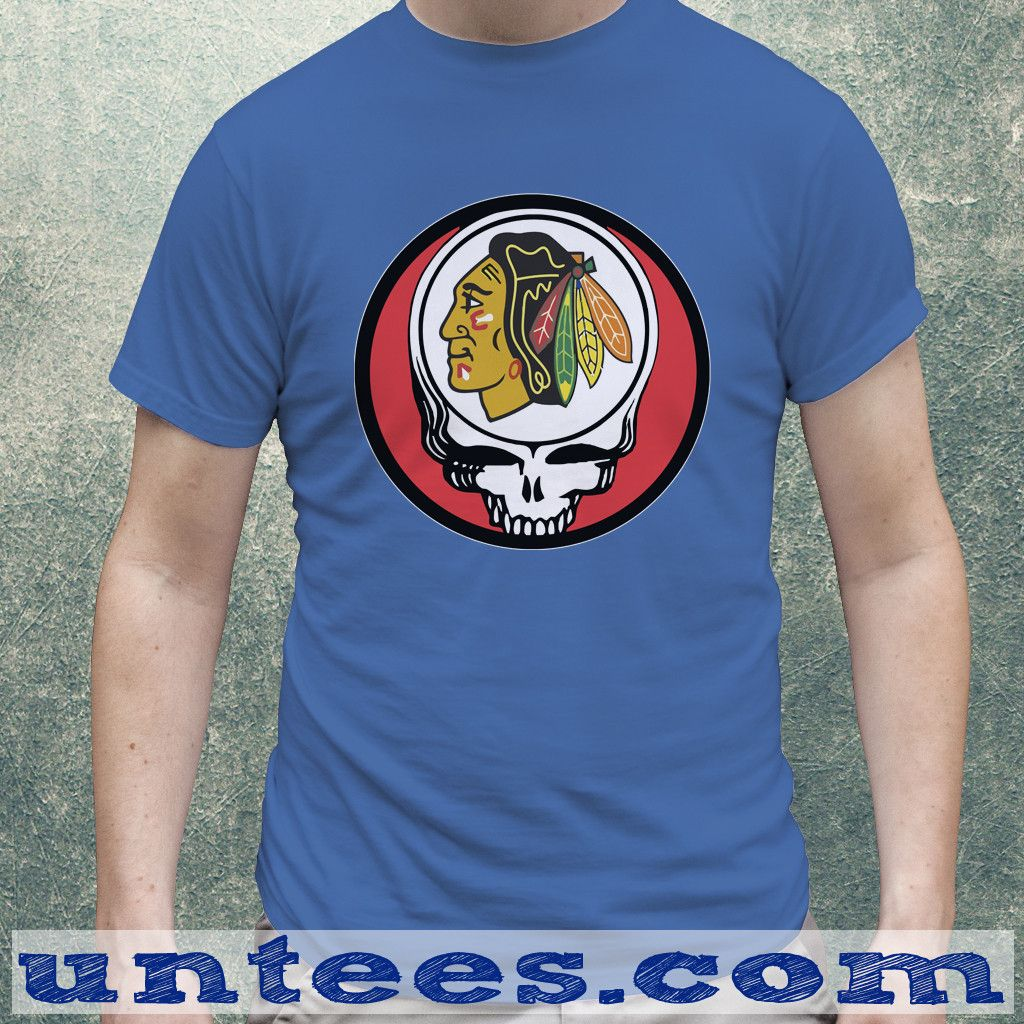 Chicago Blackhawks Grateful Dead Clothing Tshirt Unisex/Mens  #Blackhawksrally