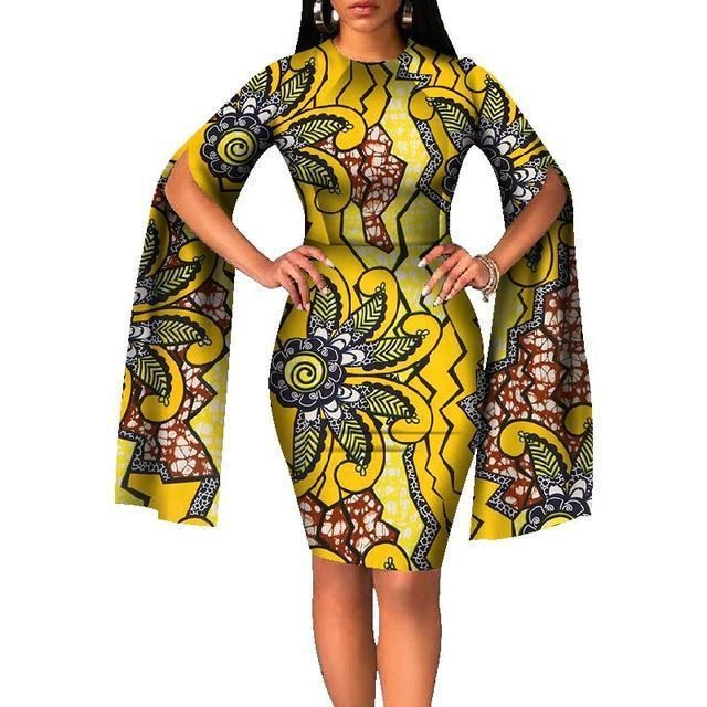 Fabulous Dashiki African Dresses for Women #afrikanischekleider Item Type: Africa Clothing Special Use: Traditional Clothing Gender: Women Material: Cotton Type: Dashiki caegory: Dresses Sleeve Length(cm): Full Dresses Length: knee length Pattern Type: print Silhouette: A-Line Sleeve Style: Petal Sleeve Decoration: Appliques Neckline: O-neck Style: Brief Fabric Type: Batik #africandressstyles