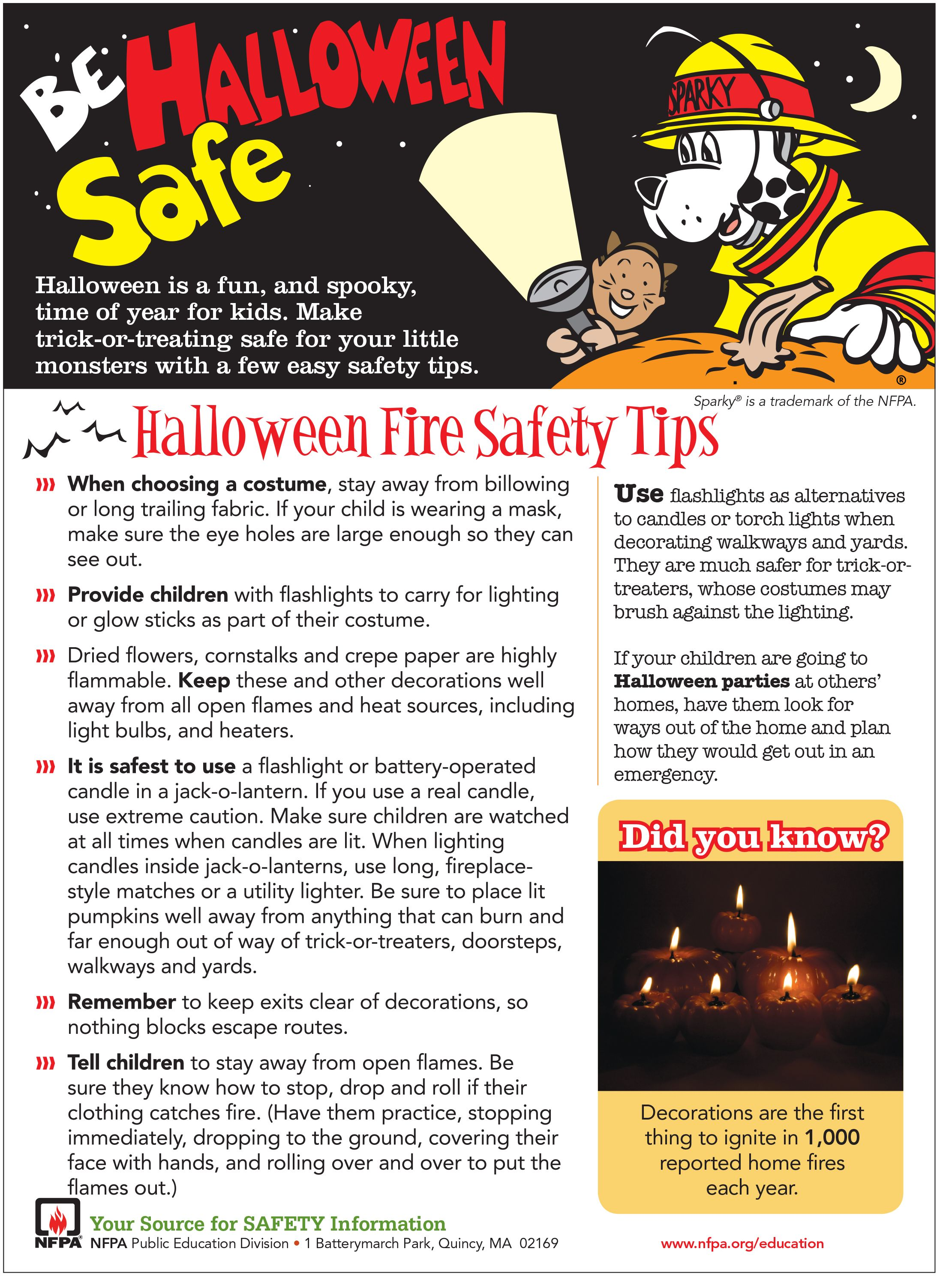 Halloween Fire Safety Tips. Finally