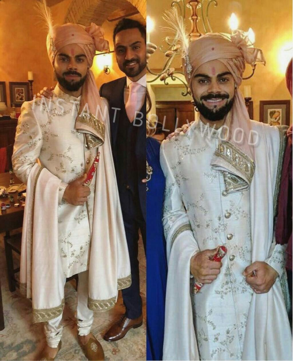 The Handsome Punjabi Dulha Wore A Smart Outfit By Designer