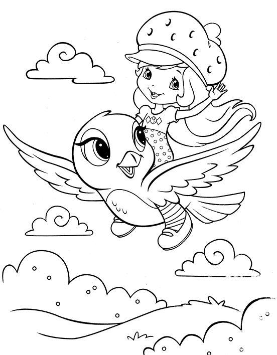 Раскраска из мультфильма Ягодный пирог | Раскраски ...