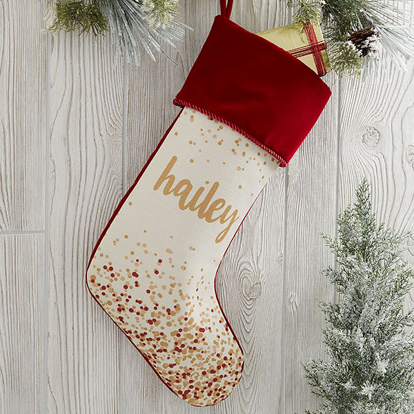Personalized Christmas Stocking with Any Name.
