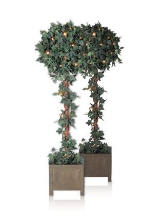 Outdoor Topiary Trees With Lights Ivy globe topiary trees with indooroutdoor lights balsamhill artificial potted christmas trees topiaries balsam hill workwithnaturefo