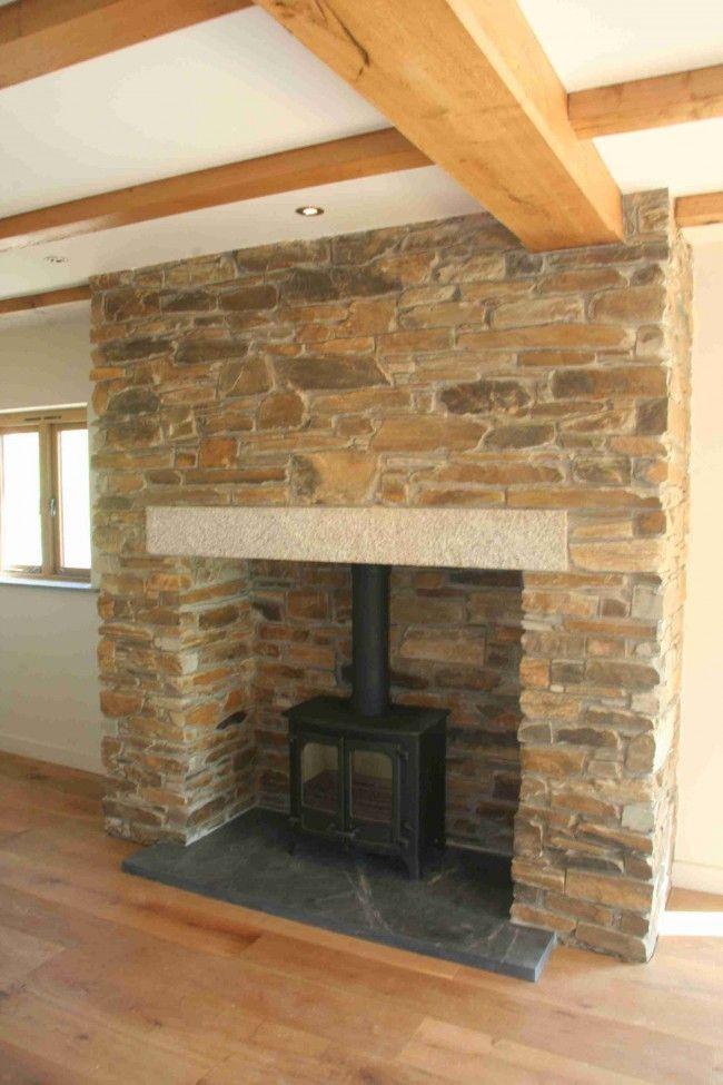 Slate #hearth, showcasing fireplace area   living room   Pinterest ...