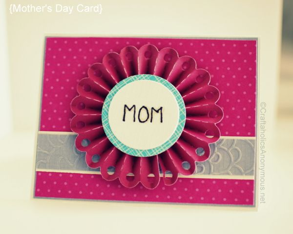 Mother's Day card idea | Cards, Card ideas and Craft