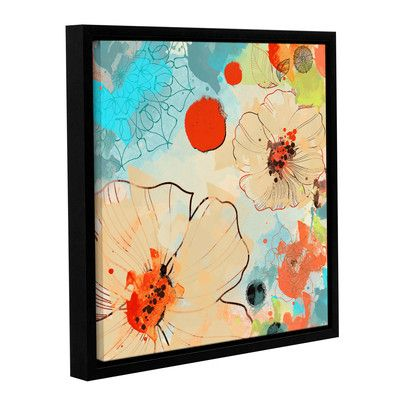 "Latitude Run Beautiful Flowers I Framed Painting Print on Wrapped Canvas Size: 18"" H x 18"" W x 2"" D"