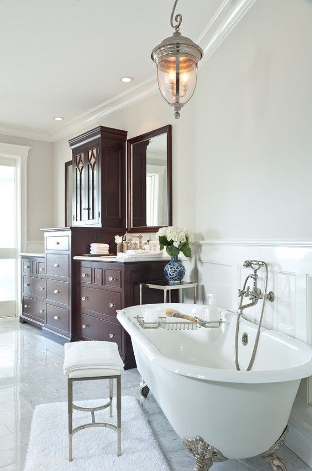 This Traditional Bathroom Features A Polished Nickel
