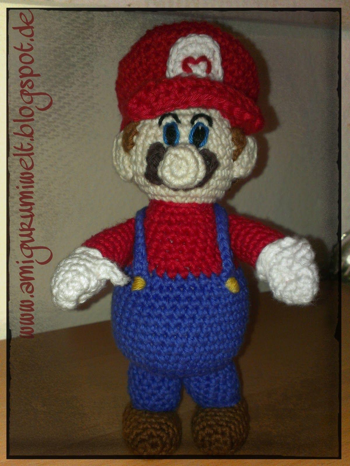 Amigurumi häkeln Mario kostenlos free crochet nintendo übersetzung ...