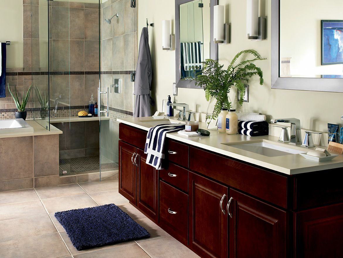 Waypoint Vanity 450 Door  Cherry Bordeaux  Bath & Kitchen Glamorous Virginia Bathroom Remodeling Inspiration