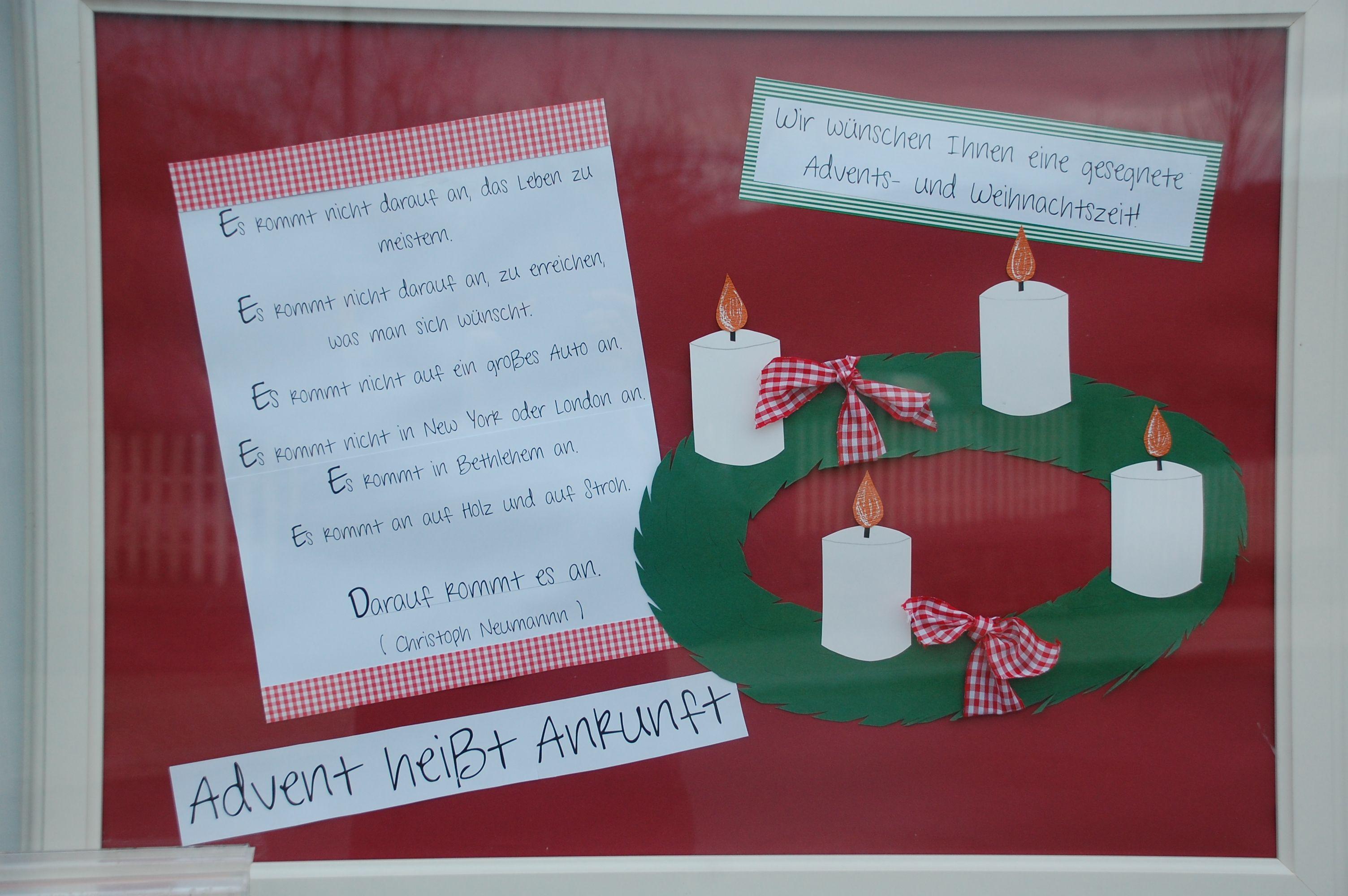 Schaukasten Thema Advent Schaukasten Weihnachten Kirche Advent