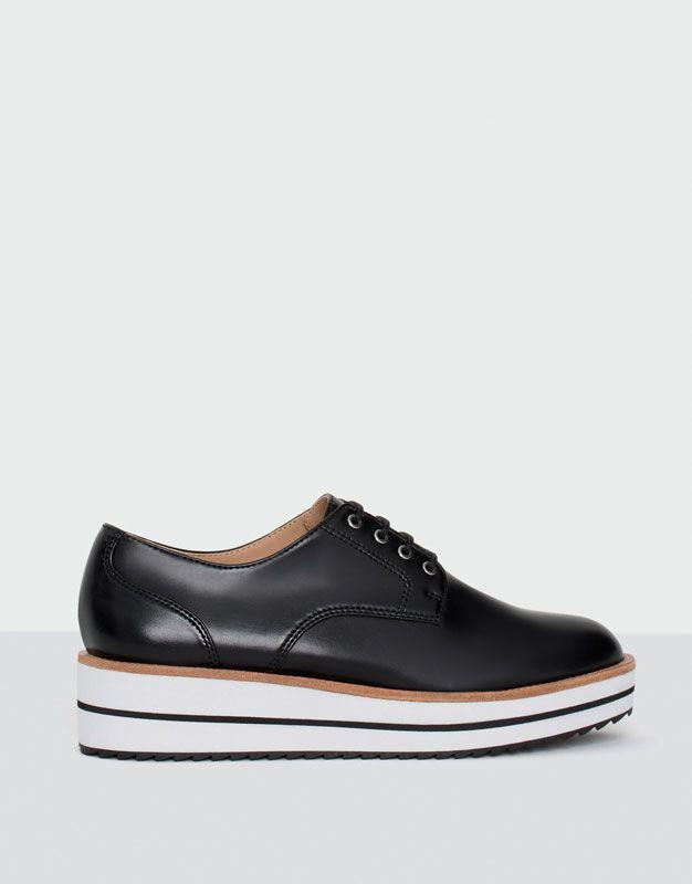 Derby mode trépointe - Tout afficher - Chaussures - Femme - PULL&BEAR  Tunisie