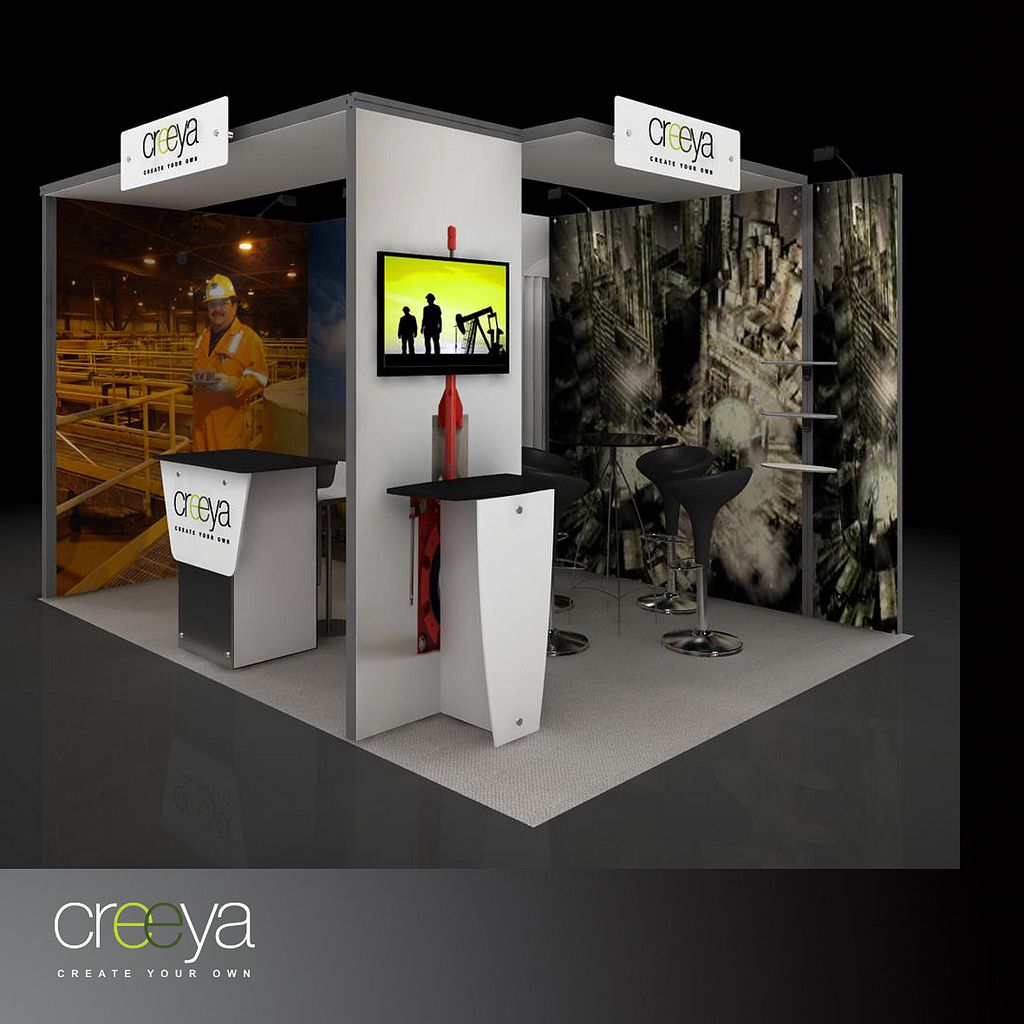 Exhibition Booth Design Ideas : Small exhibition booth year of clean water