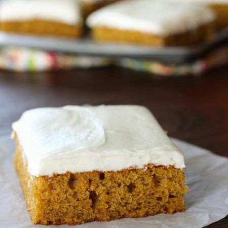 Pumpkin bars with cream cheese frosting breads and bars light and fluffy pumpkin bars topped with a rich creamy decadent cream cheese frosting for an exquisite heavenly result aloadofball