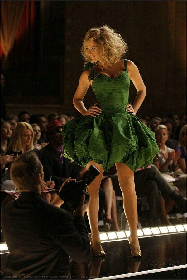 0e1f92aeb0a Serena Van der Woodsen in the famous green evening dress...xoxo Gossip Girl