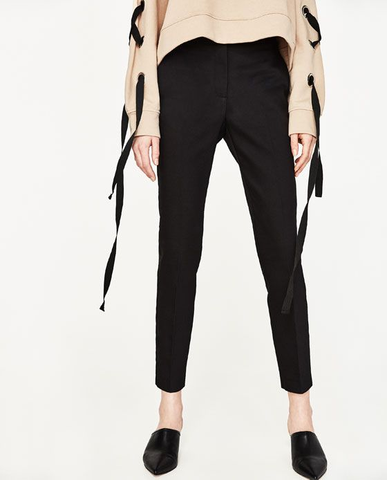 zara pantalon femme taille elastique