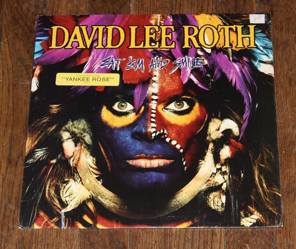 Details About David Lee Roth Eat Em And Smile Vinyl Lp David Lee Roth David Lee Steve Vai