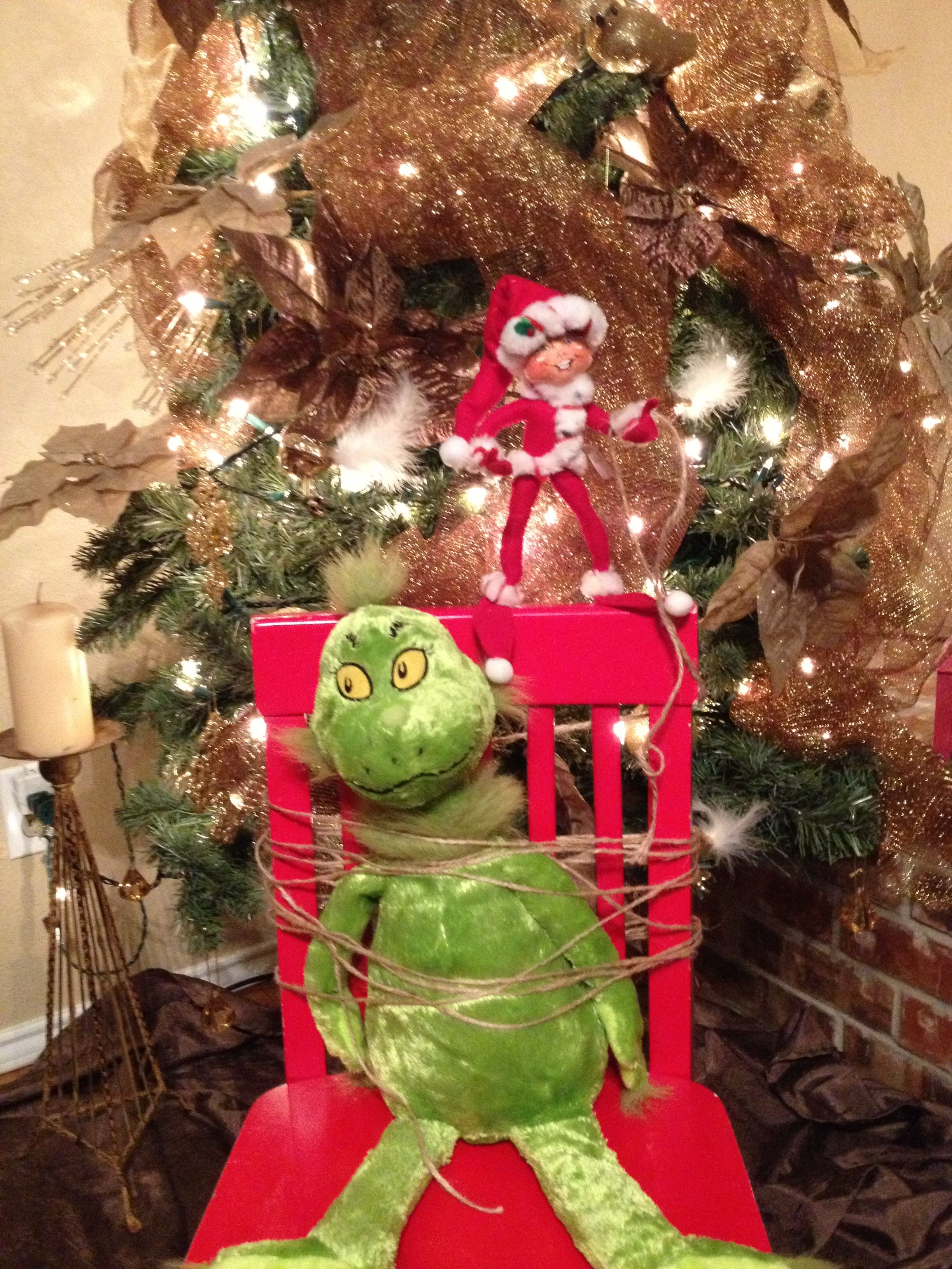 Elf On The Shelf The Grinch Has Been Captured