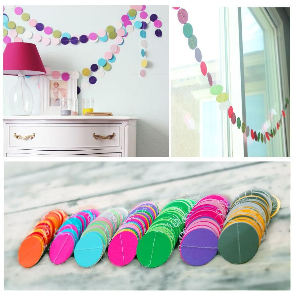 Fun Colorful Hanging Paper Garlands Flora String Wedding Party Baby ...