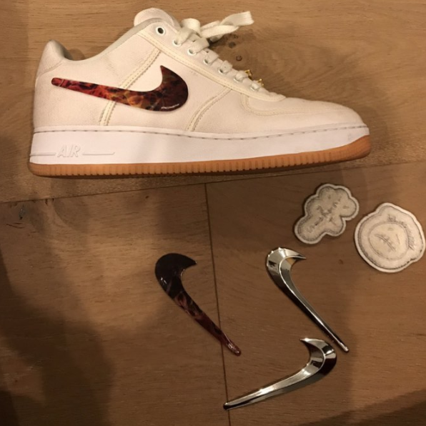 A Closer Look at the Travis Scott x Nike Air Force 1 | Nice