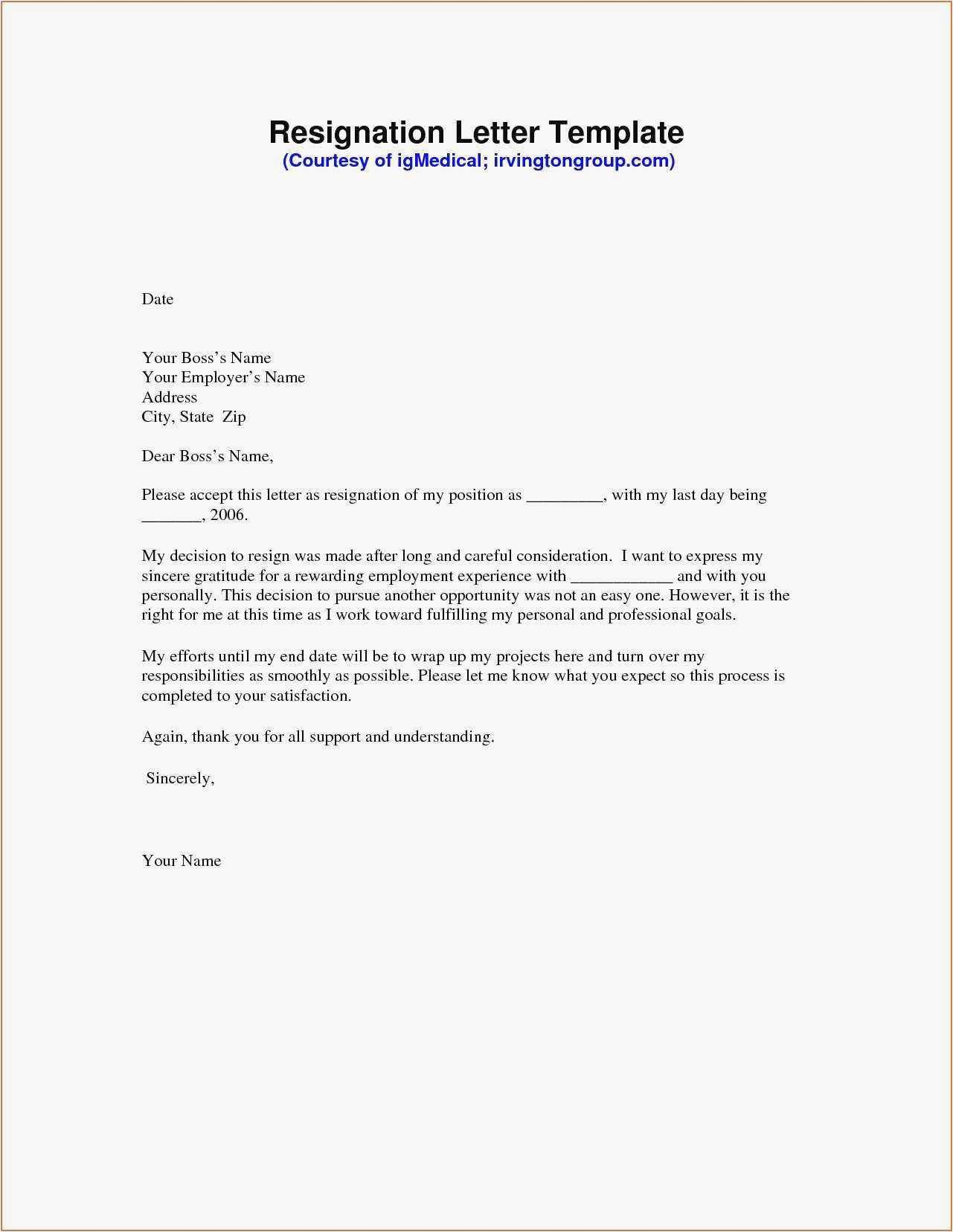 Letter Of Resignation Template What Should You Write Resignation