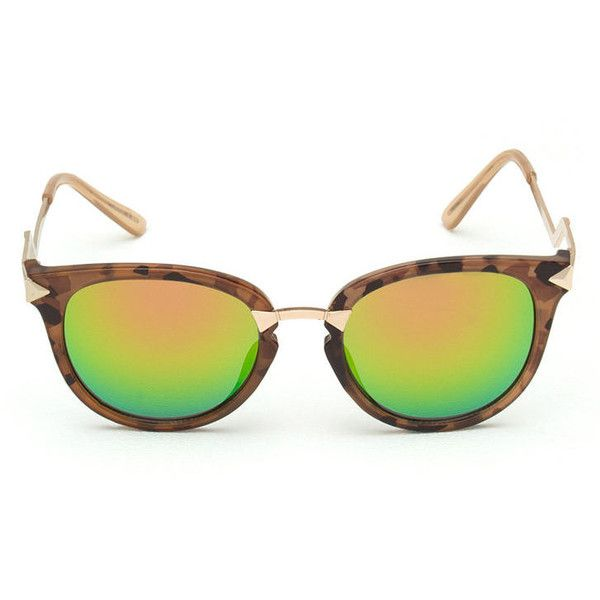 Retro Angle Mirrored Sunglasses GREENTORT ($7) ❤ liked on Polyvore featuring accessories, eyewear, sunglasses, mirror sunglasses, retro mirror sunglasses, retro sunglasses, mirrored lens sunglasses and retro style glasses