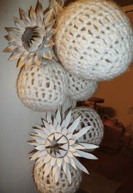 Suz Place: LOO ROLL FLOWERS AND CROCHET BAUBLES