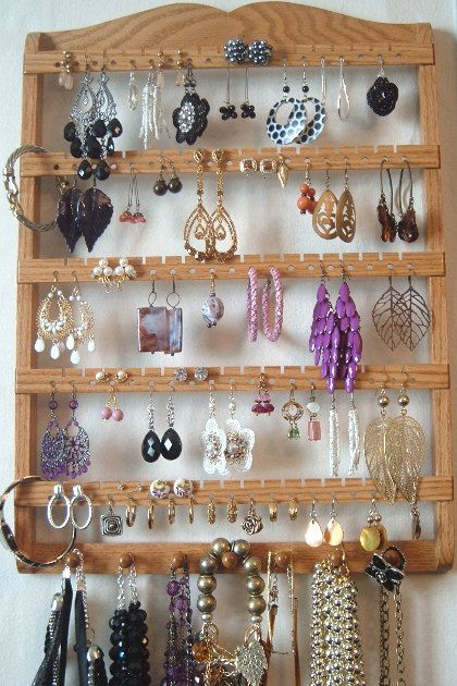 Jewelry Display Earring Holder Boutique Quality Design Etsy Necklace Organization