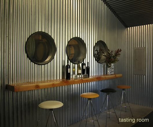 House Of Mann Commercial Projects Tasting Room Corrugated Metal Wall Aluminum Wall Panel Corrugated Metal