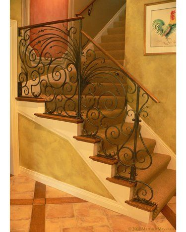 Louisville Kentucky Private Residence Metal Railing With Wood