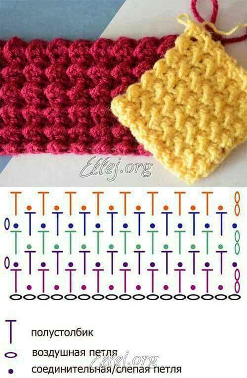 Pin de xelo arnal en ganxillo   Pinterest   Puntos crochet, Cesto y ...