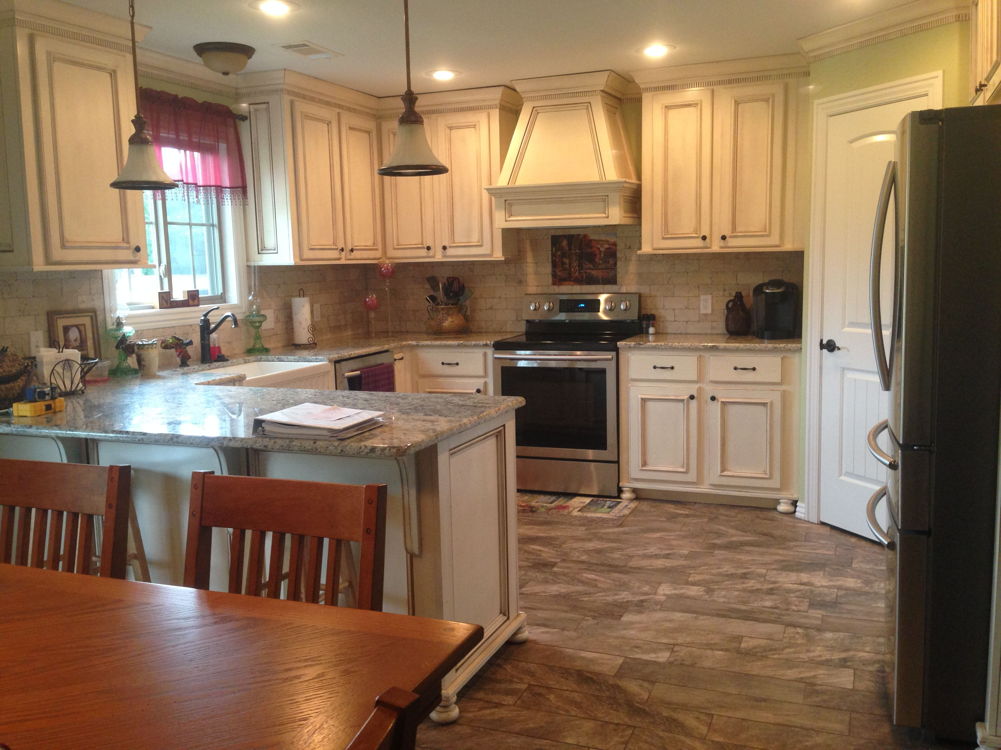 new custom home. kitchen cabinets are custom made. beautiful