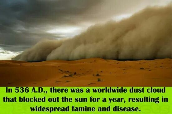 In 536 A D There Was A Worldwide Dust Cloud That Blocked Out The