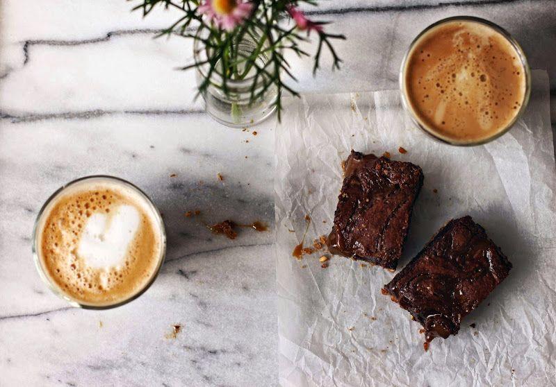 Milk and Honey: Caramel Brownies with Pretzel Crust