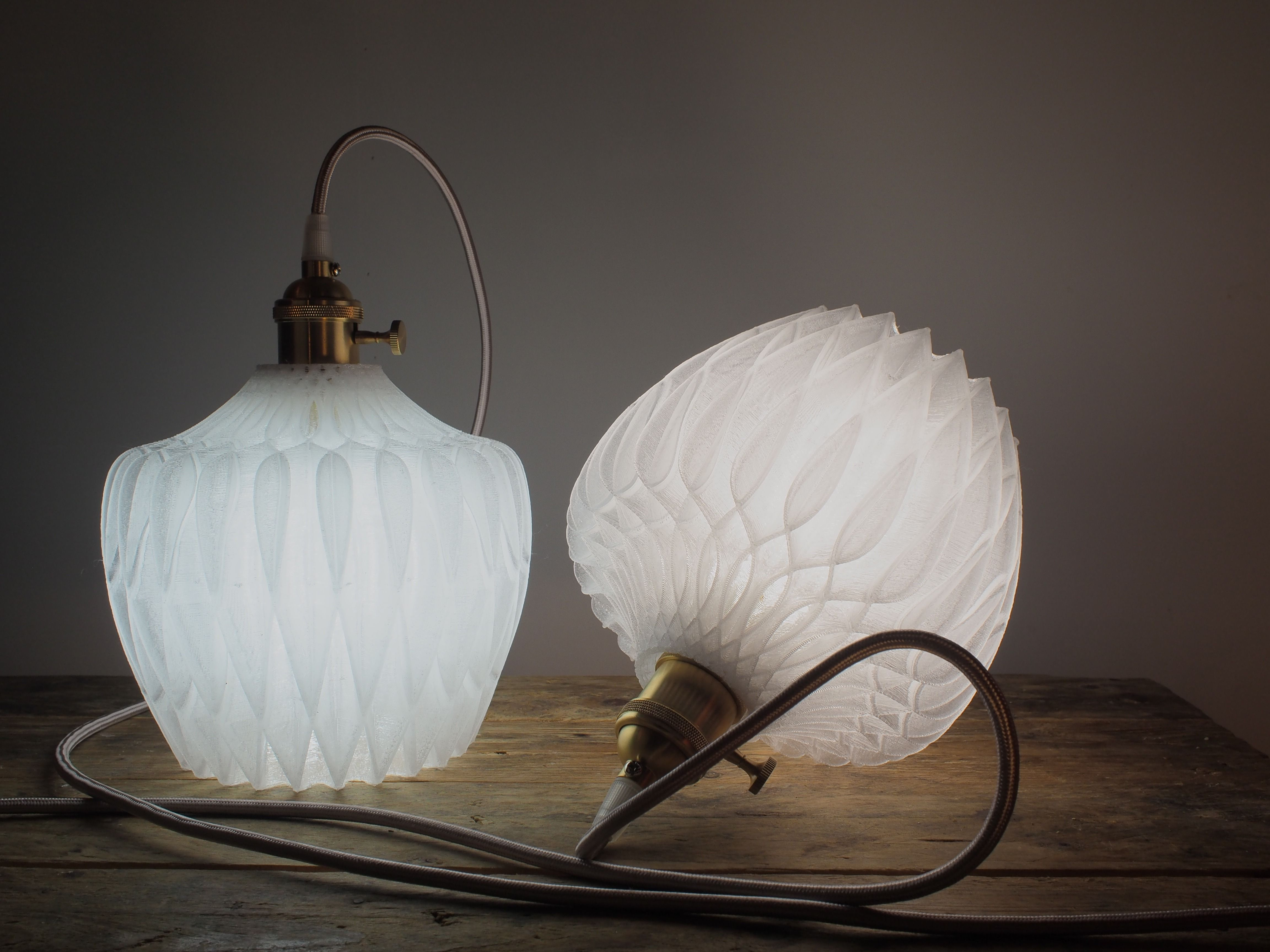 Architect Designer Nicolas Muller From France Uses Ngen Clear To Create His Custom Shiny Leaves Lamp Shade Ngen Is An Easy To Lamp Lamp Shades 3d Printing