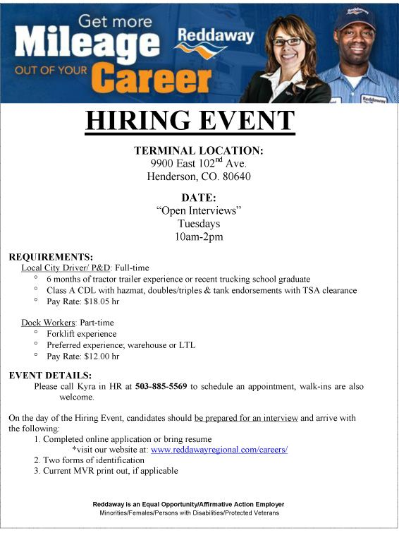 Hiring Event Local City Drivers Dock Workers - http\/\/wwwmilitary - sterile processing resume