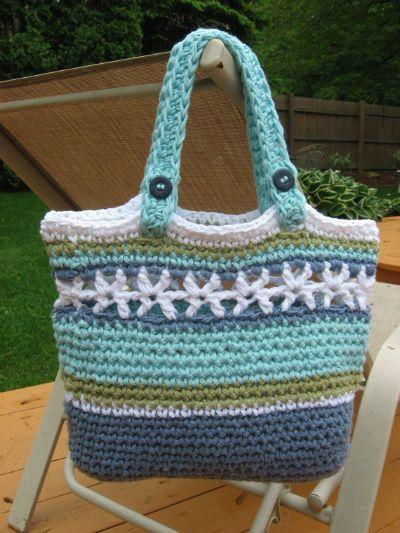 Cute Crochet Beach Bag From Nutsaboutknitting