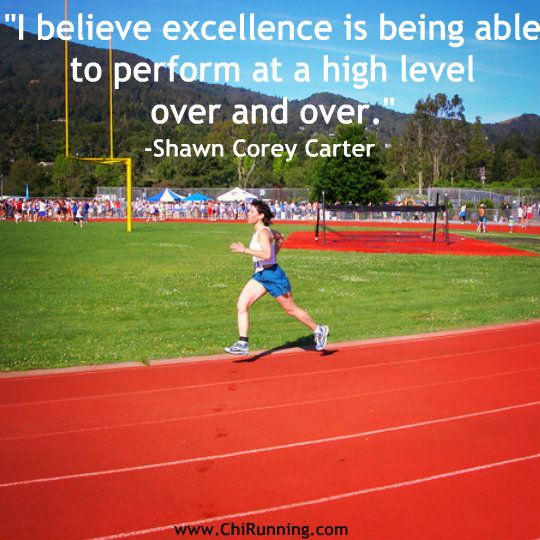 #excellence is being able to perform at a high level over and over. #running #inspiration