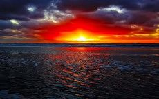3d & Abstract, Sunset, Beleza, textura Lava